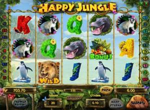 Игровой автомат слот Happy Jungle HD - Веселые джунгли