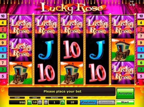 lucky rose игровой автомат