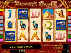 Игровой автомат слот Pharaons Gold III - Золото Фараона