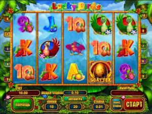 Игровой автомат слот Lucky Birds - Попугаи