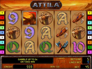 Игровой автомат слот Attila - Атилла