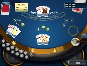 Игровой автомат слот Three Card Poker - Трёхкарточный покер