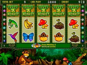 Игровой автомат слот Crazy Monkey 2 - Обезьянки 2