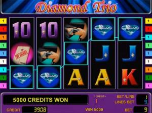Игровой автомат слот Diamond Trio играть бесплатно