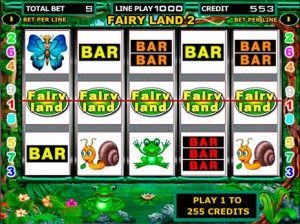 Игровой автомат слот Fairy Land - Лягушки