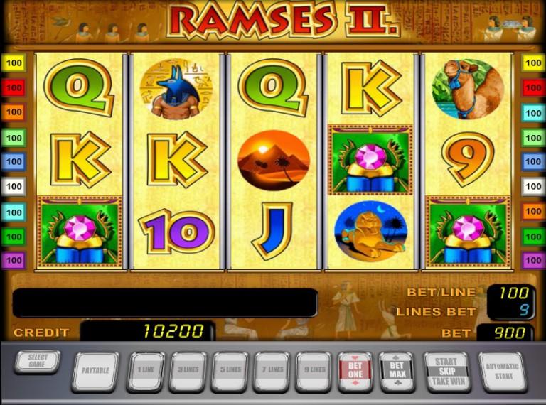 Игровой автомат слот Ramses II - Рамзес 2