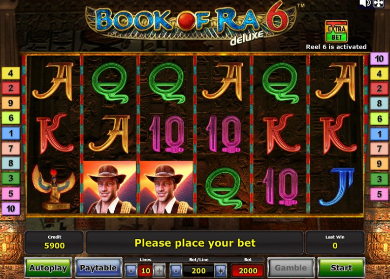 Игровой автомат слот Book of Ra 6 Deluxe - Книга Ра 6