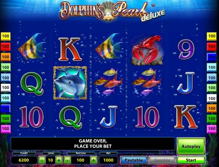 Игровой автомат слот Dolphins Pearl Deluxe - Дельфины делюкс