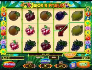 Игровой автомат слот Juice N Fruits - Фруктовый сок