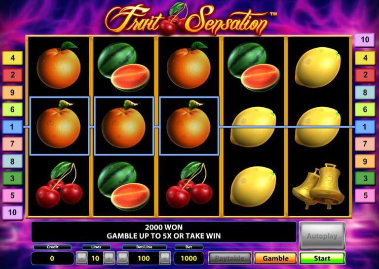 Игровой автомат слот Fruit Sensation Deluxe - Фруктовая сенсация