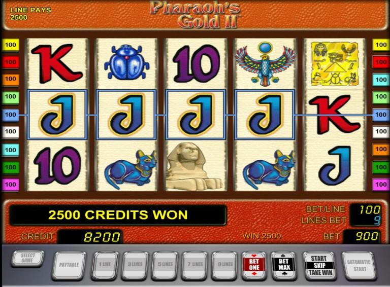 Игровой автомат слот Pharaons Gold - Золото фараонов