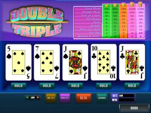 Видеопокер Double Triple онлайн
