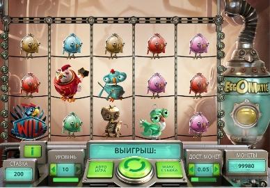 Игровой автомат слот EggOMatic - Яйцемания