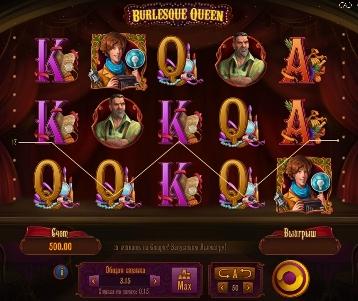 Игровой автомат слот Burlesque queen - Королева бурлеска